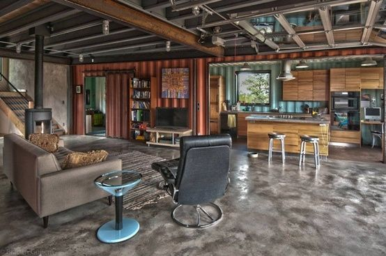 Totally Awesome Shipping Container House Loft Living Pinterest