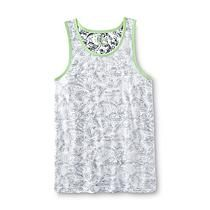 8ca081bb5a155 Roebuck   Co. Young Men s Graphic Surfer Tank Top - Palm Leaves ...