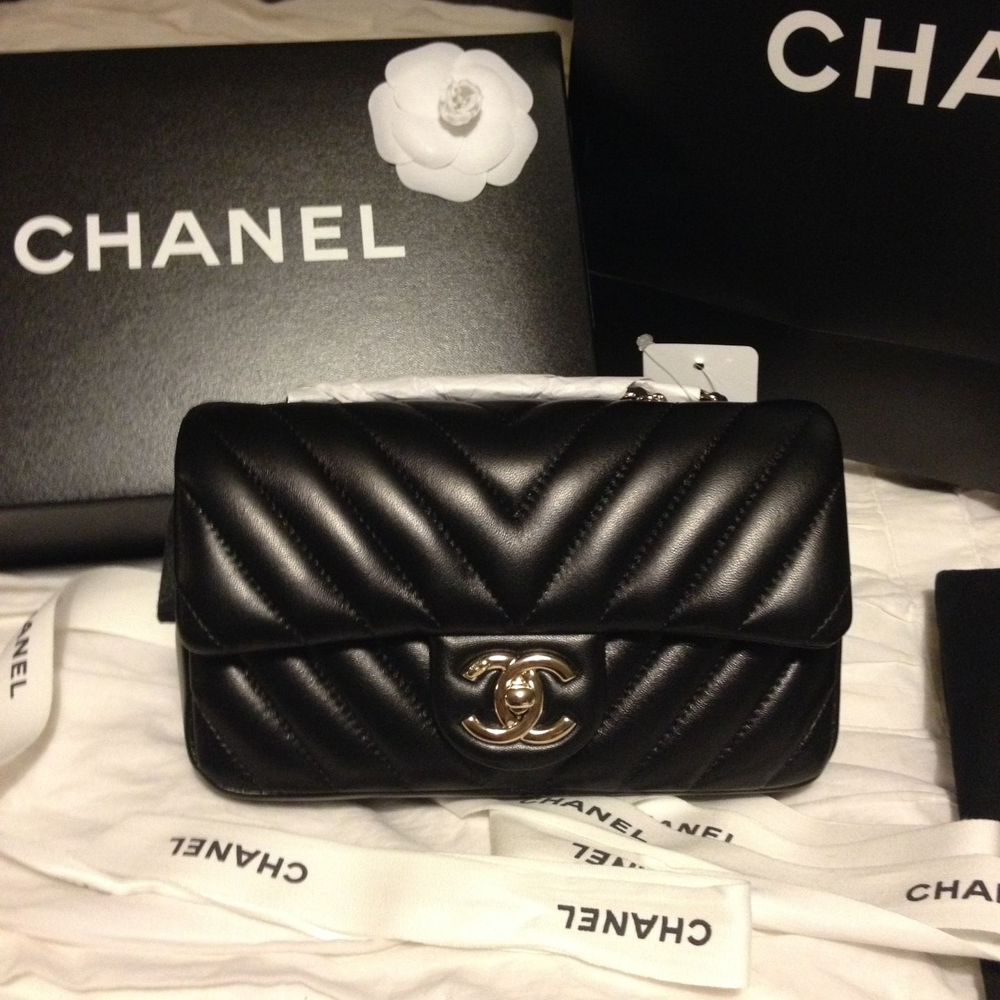 03ab7b07a155 Chanel Chevron in Lambskin. Love this soft leather but terrified of it too.