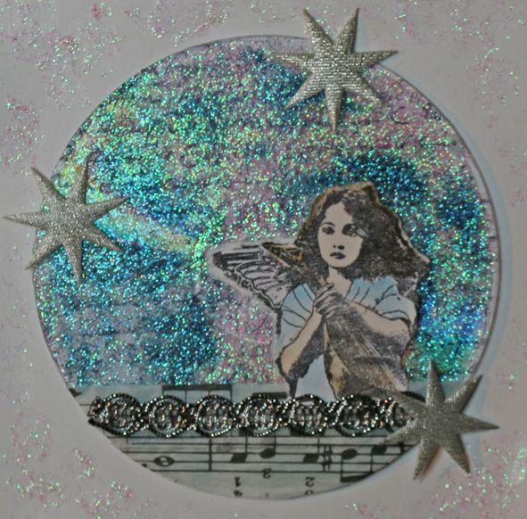 Ideen zu Weihnachten No. 14 - Glitzer (Glitterpaste - Viva Decor) - Sample - Daniela Rogall