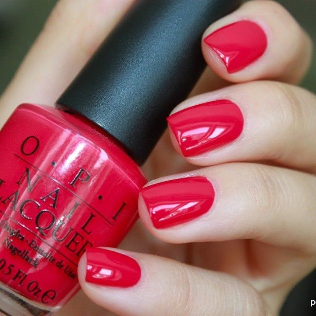 Opi Red Launch 89 Collection Bright Eyecatching Candy