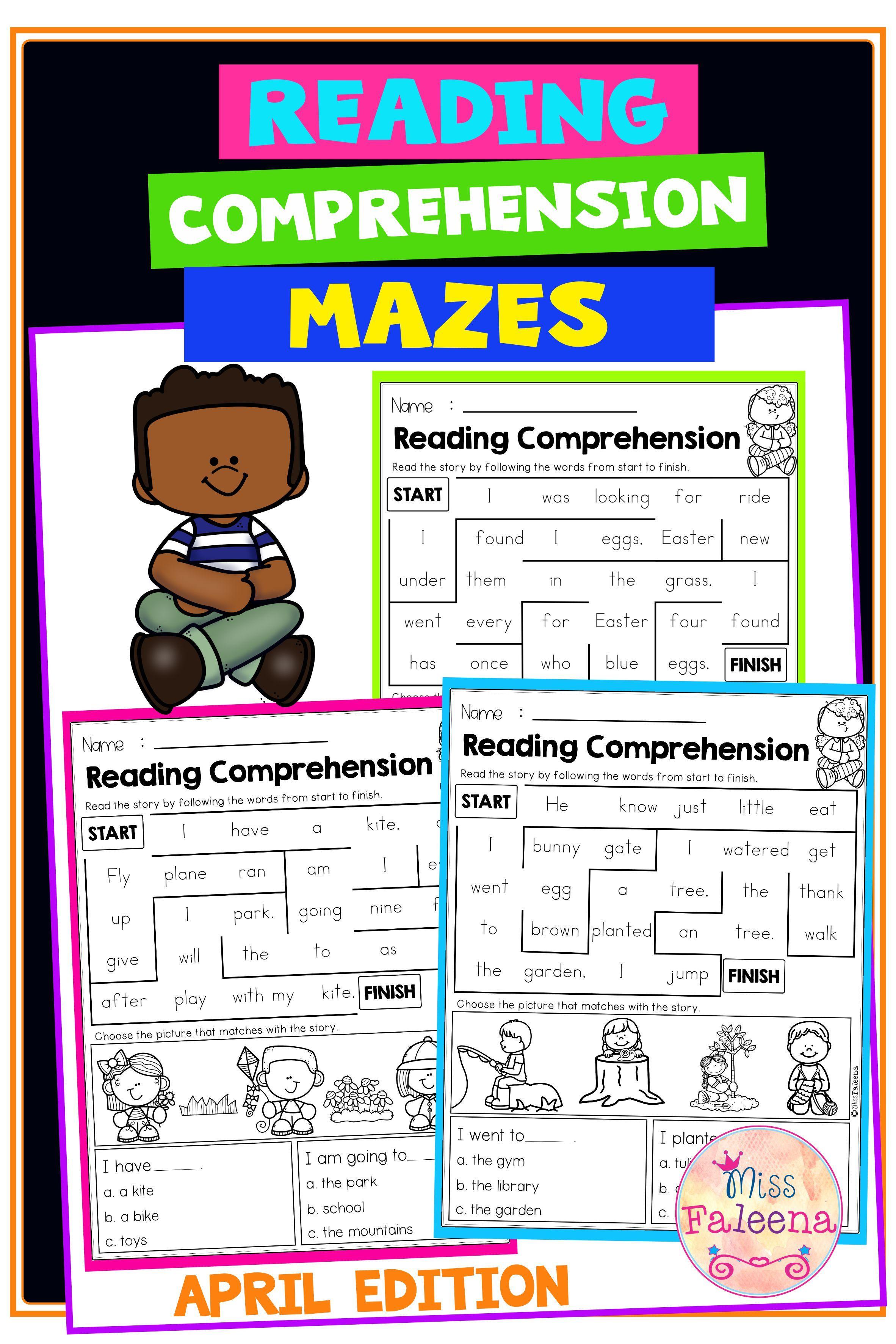 April Reading Comprehension Mazes In 2021 April Reading Comprehension Reading Comprehension April Reading [ 3544 x 2364 Pixel ]