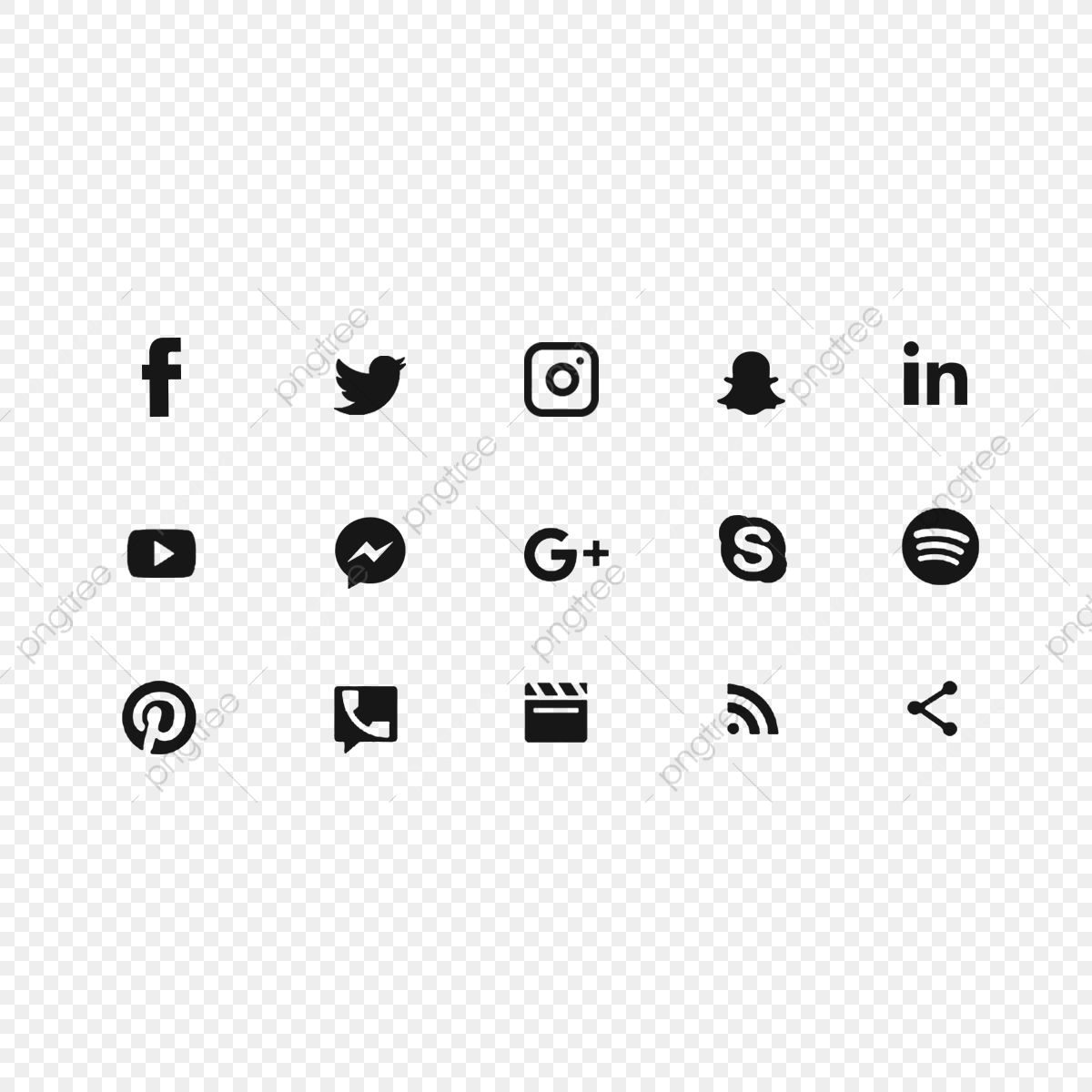 Black Social Media Icons Social Media Icons Social Media Social Media Logo Png Transparent Clipart Image And Psd File For Free Download Social Media Icons Black Social Media Icons Twitter Icon