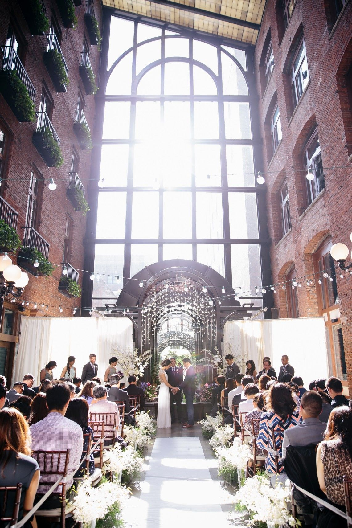 Simply Chic Downtown Seattle Wedding | Downtown seattle, Seattle ...