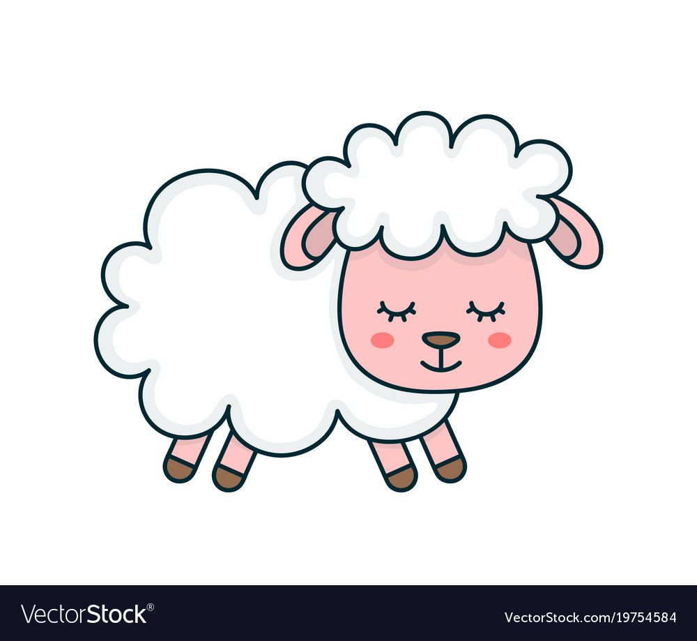 Download Cute smilng funny sleeping sweet sheep vector image on ...