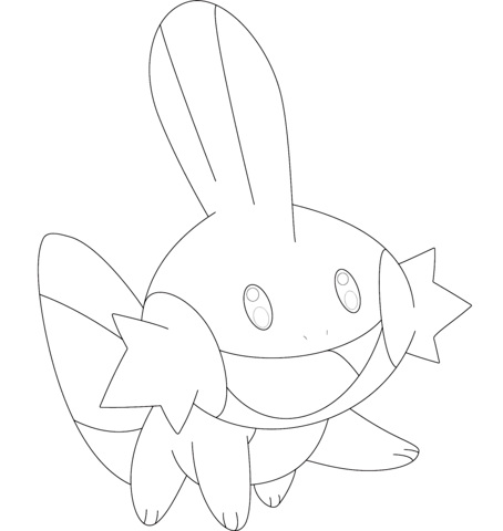 Mudkip Coloring Page