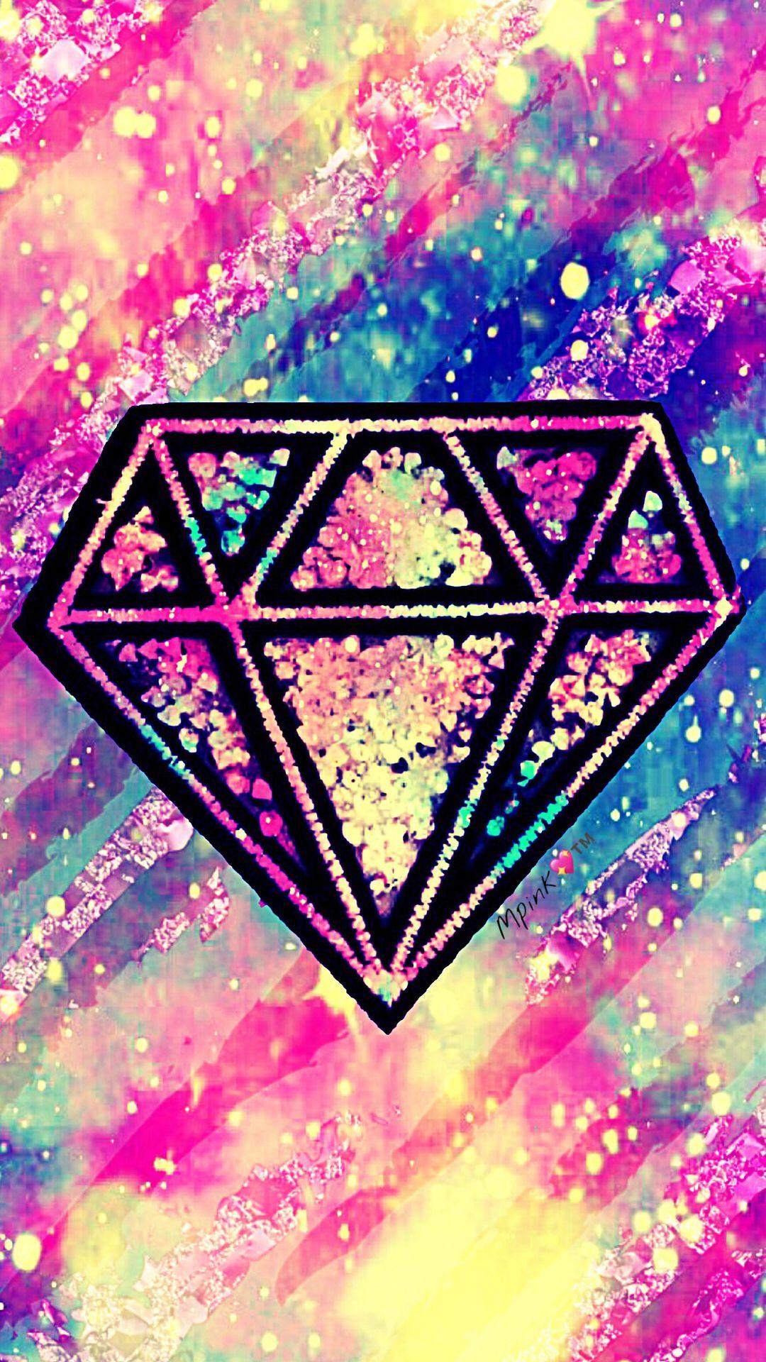 Crystal Diamond Galaxy Wallpaper Androidwallpaper