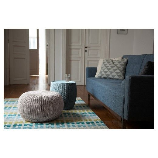Urban Cozy Knit Outdoor Poufs And Table Balcony 40pc Set Keter Beauteous Keter Outdoor Pouf