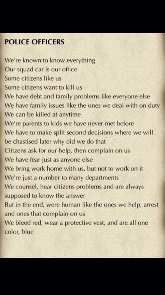 Police Officers poem Facebook - Police Officers | Police ...