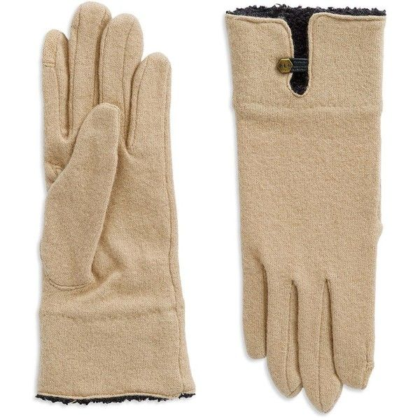 Lauren Ralph Lauren Boucle Cuffed Wool Gloves ($42) ❤ liked on Polyvore featuring accessories, gloves, camel, lauren ralph lauren, wool gloves, woolen gloves and lauren ralph lauren gloves