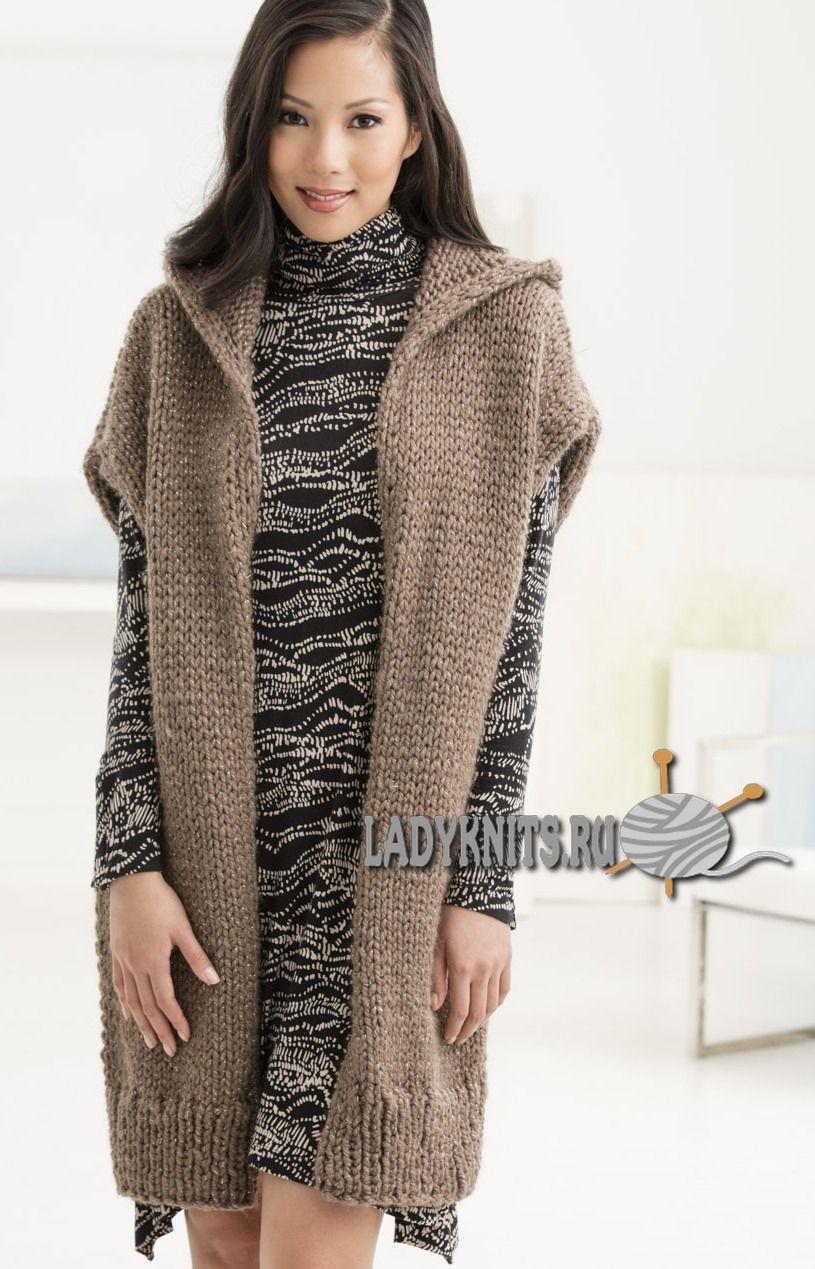 Толстая безрукавка вязание