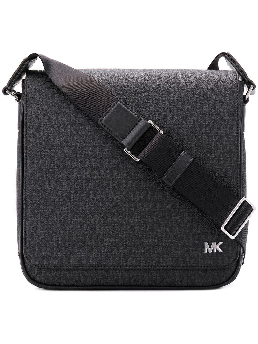 e1e61e7baa3b8 MICHAEL MICHAEL KORS MICHAEL MICHAEL KORS MONOGRAM PRINT MESSENGER BAG -  BLACK.  michaelmichaelkors  bags  shoulder bags