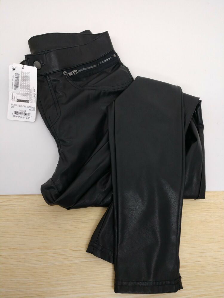 ddc3a480c4f29a Hue Womens leatherette leggings Black Small 4-6 Nwt #HUE | #Cheap ...