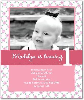 First birthday invite paper crafts pinterest birthdays babies first birthday invite stopboris Gallery