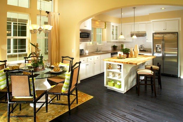 Cocinas pintadas con los colores de moda - 50 ideas  e9ea4fcbbde6