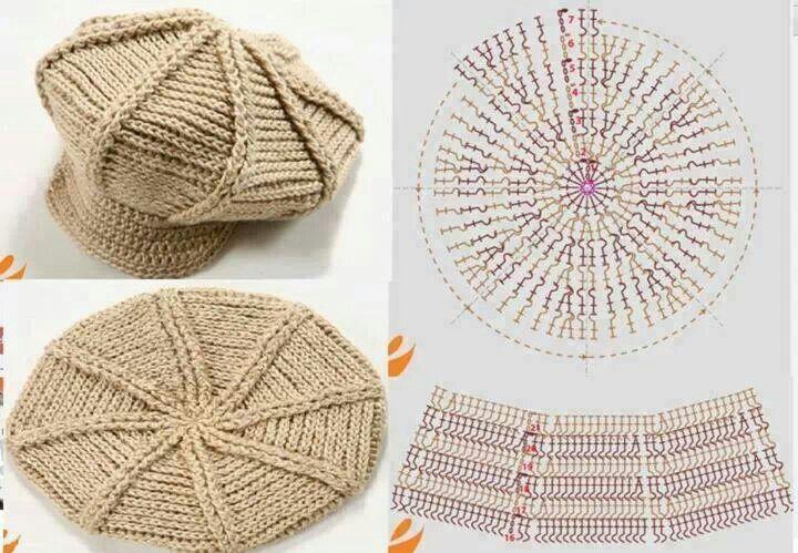 Boina Crochet http://graficos-patrones-crochet-tricot.blogspot.com ...
