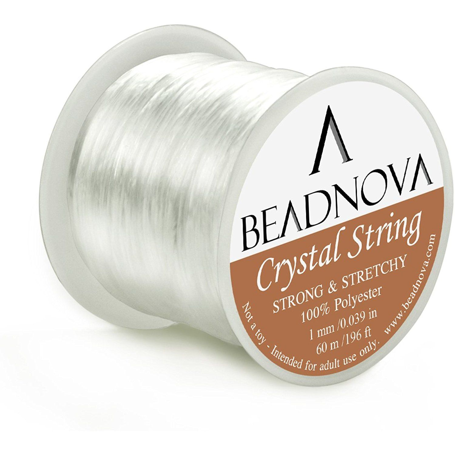 Beadnova mm elastic stretch polyester crystal string cord for
