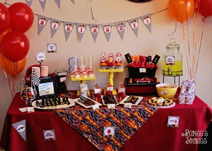 Charming Cars Themed Birthday Party Decorating Ideas Part - 1: Race Car Birthday Party Planning Ideas Supplies Idea Decorations