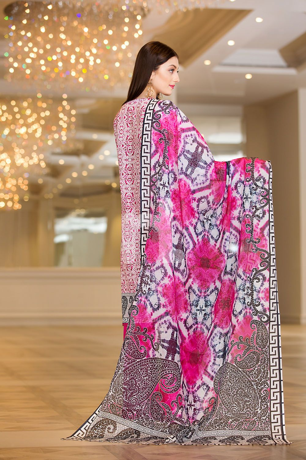 16adb60011 Buy this elegant Pink lawn 3 piece pret dress by Nishat Linen printed  casuals 2018 at