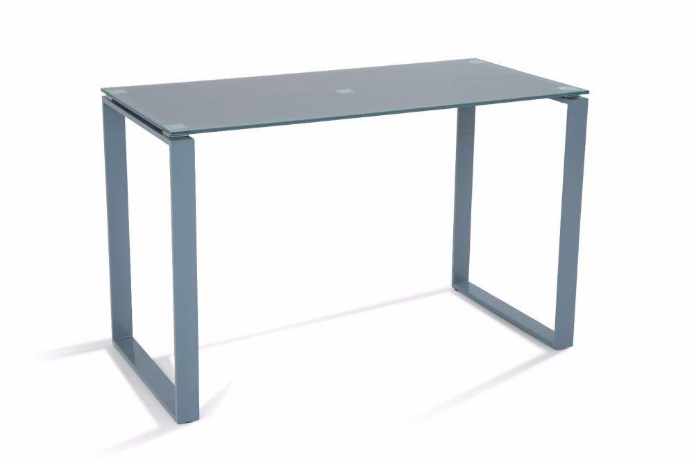 Bureau nasdrovia en verre trempé gris 120 cm bureaux design