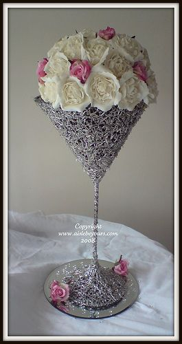 Genial Martini Glass Centerpiece Ideas | Martini Glass Table Decorations