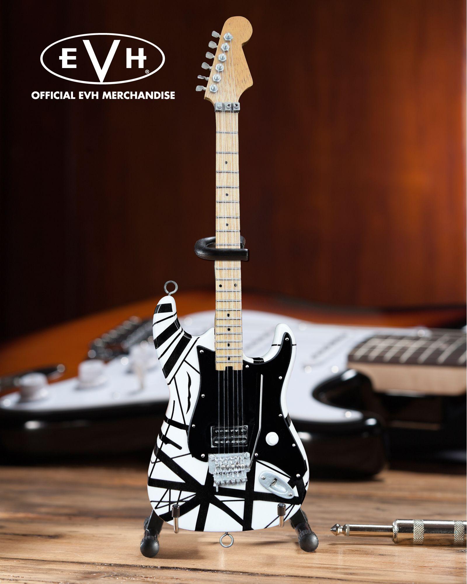 Evh Black White Vh1 Eddie Van Halen Mini Guitar Replica Collectible Officially Licensed Eddie Van Halen Van Halen Guitar