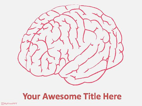 Human brain powerpoint template medical template pinterest human brain powerpoint template toneelgroepblik Images