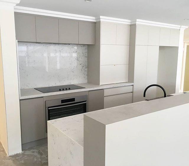 Designer Kitchen Under Construction ....stone Splashback