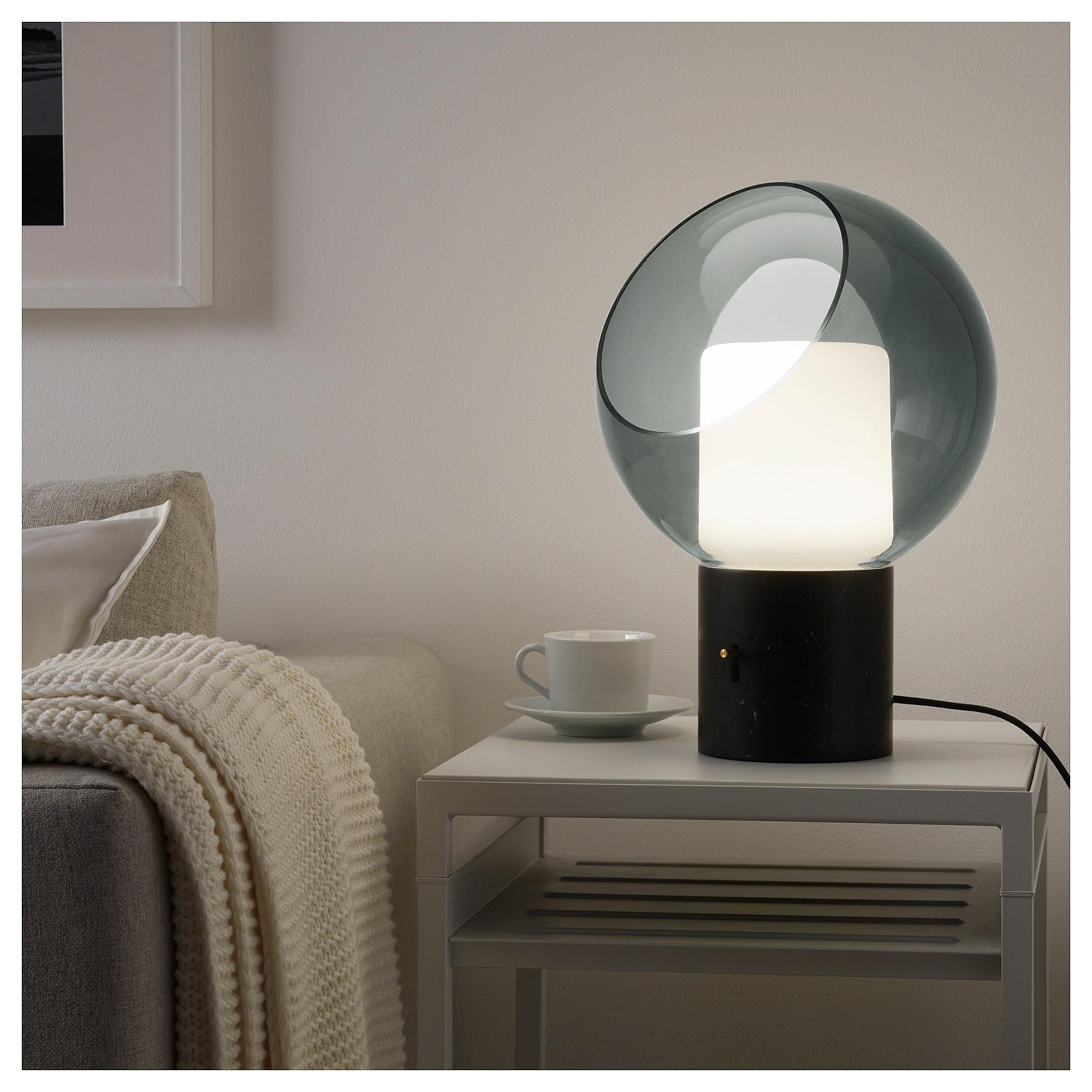 Evedal Bordslampa Marmor Gra Gra Klot Ikea Grey Table Lamps Table Lamp Lamp