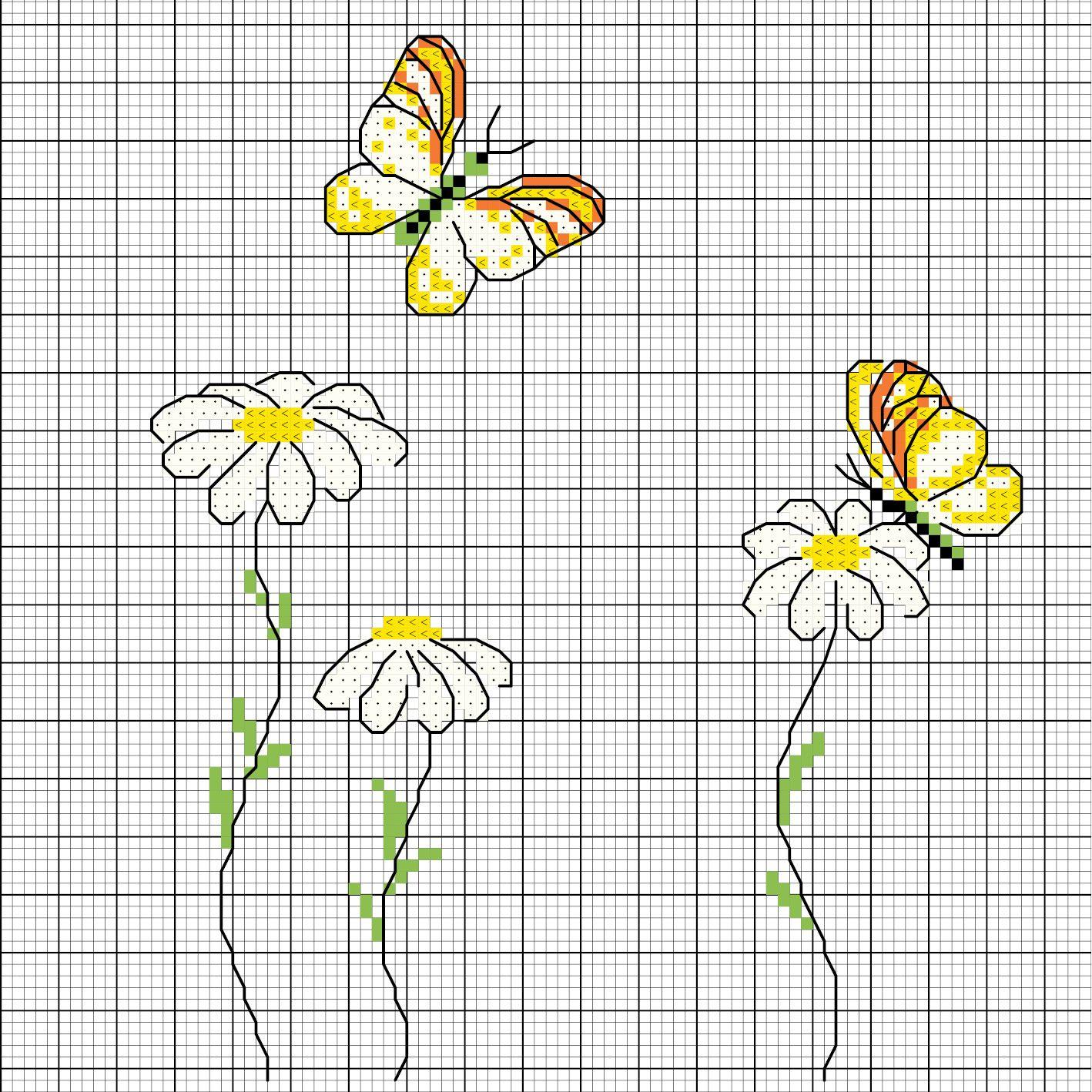 Margerite Mit Schmetterling Sticken Entdecke Zahlreiche Kostenlose