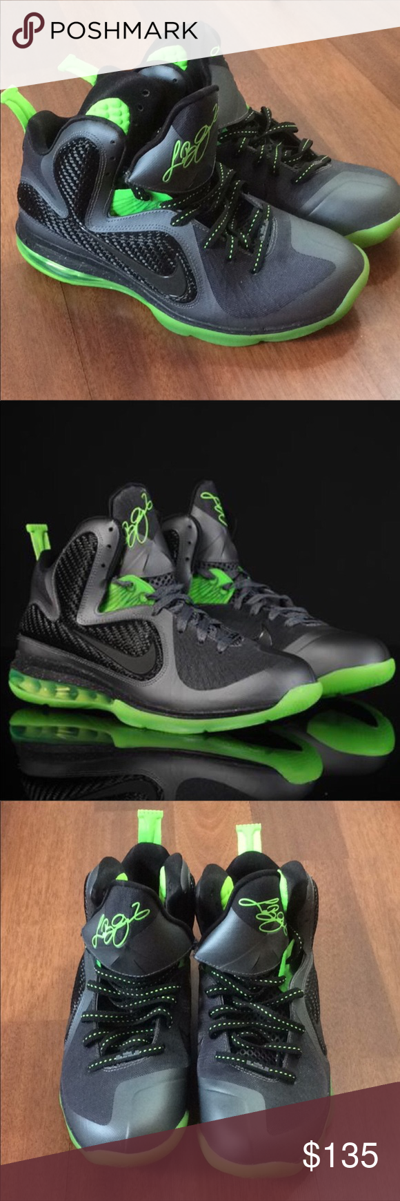 pretty nice c7f0c 9e2ce ⭐️Nike Lebron 9 IX Dunkman size 10 Lebron 9 Dunkman Mens Shoe size 10 Dark  Gray Black Volt. They are like new condition only worn a few times.