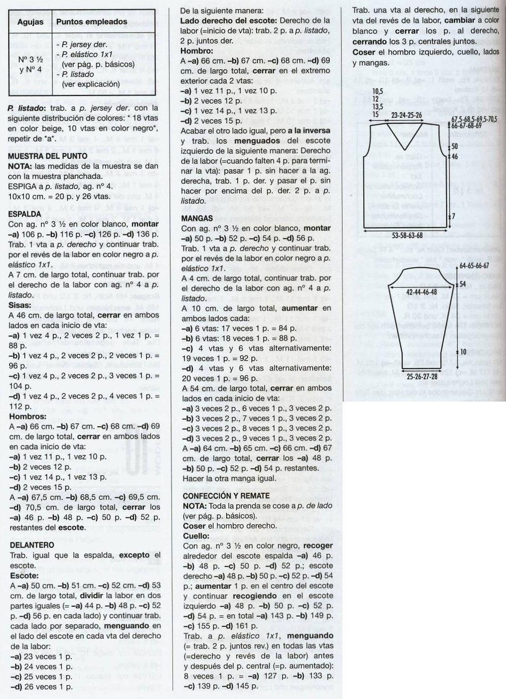 patrones asgaya: JERSEYS MUJER Y HOMBRE A DOS AGUJAS   Revista ...