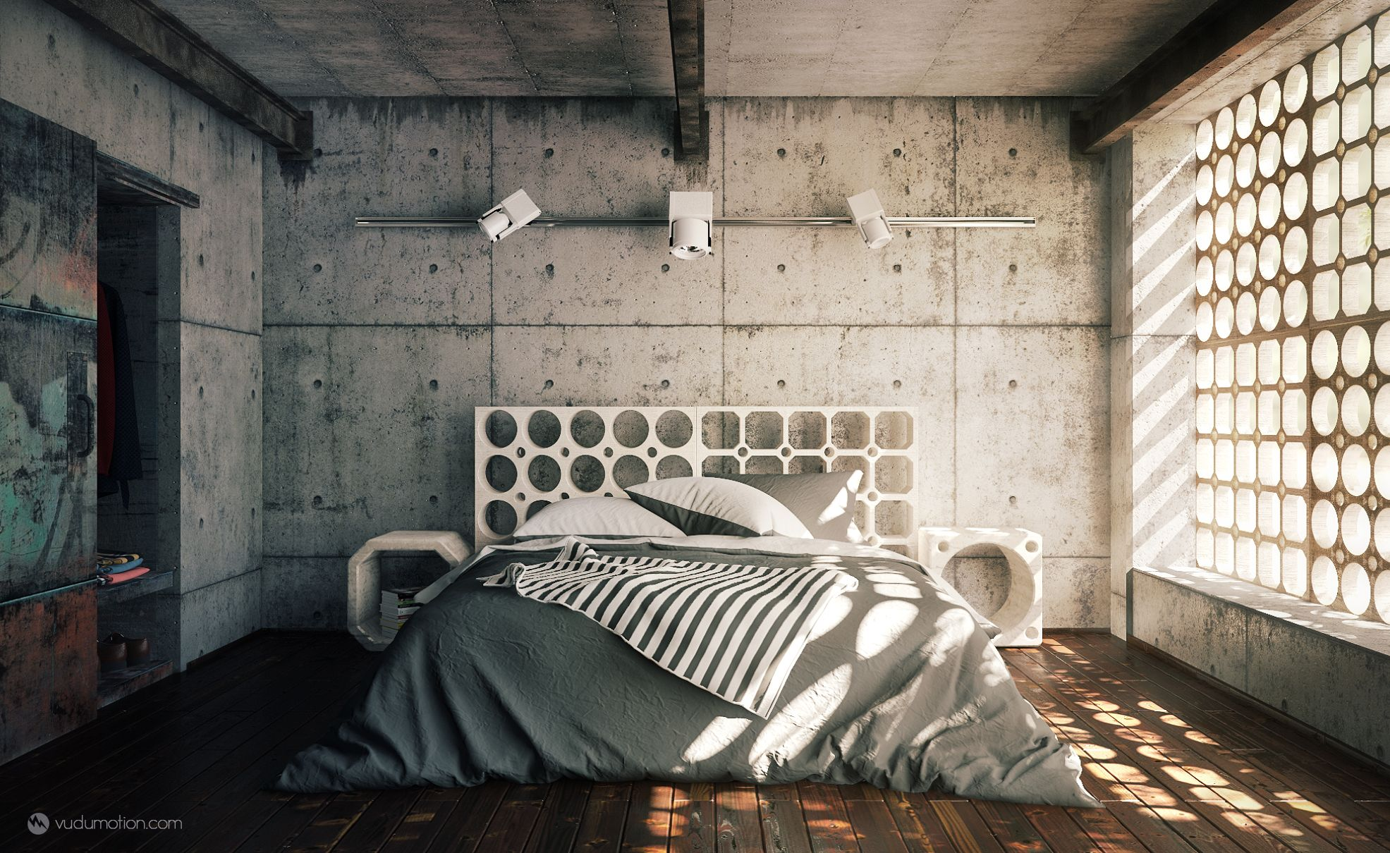 Industrial Bedroom Im a huge fan of industrial style interiors