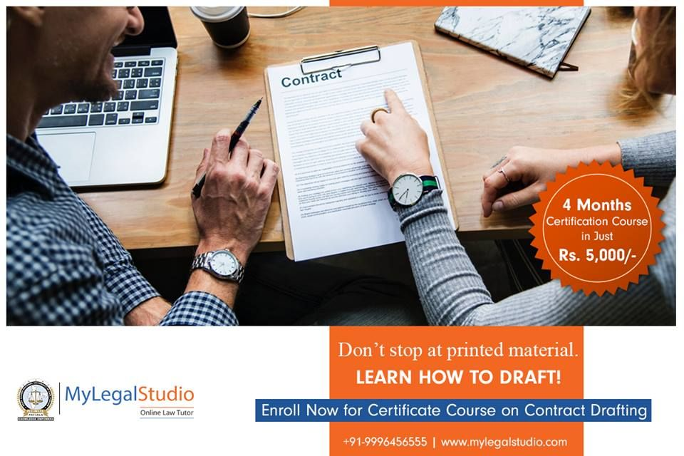 Online Certificate Course in Contract Drafting is a four