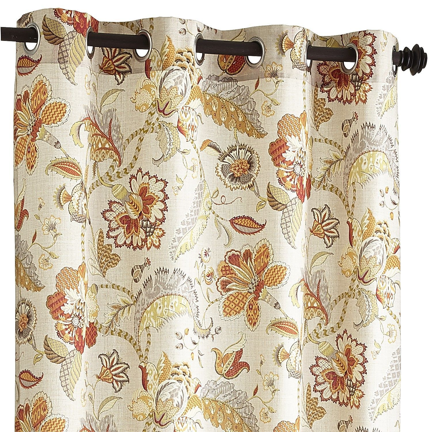 vibrant paisley grommet curtain | curtains, paisley and paisley
