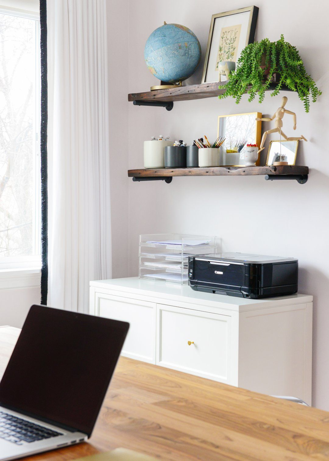 Home Office Organization Ideas | Shelf display, Paint supplies and ...