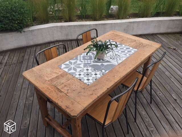 renovee une table de jardin