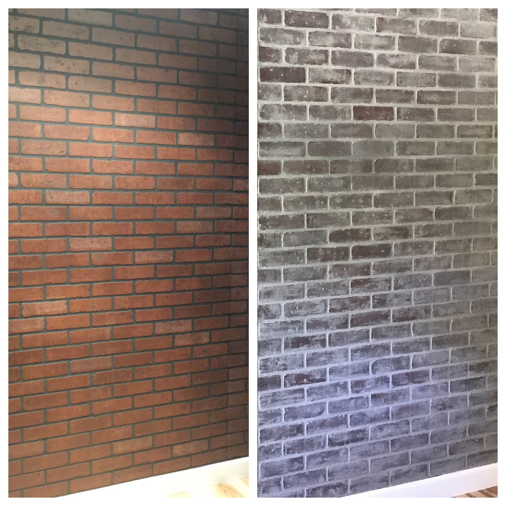 How To Install Faux Brick Panels This Is An Easy Tutorial And You Will Love Your Brick Walls Fauxbrick Faux Brick Wall Panels Faux Brick Walls Brick Paneling
