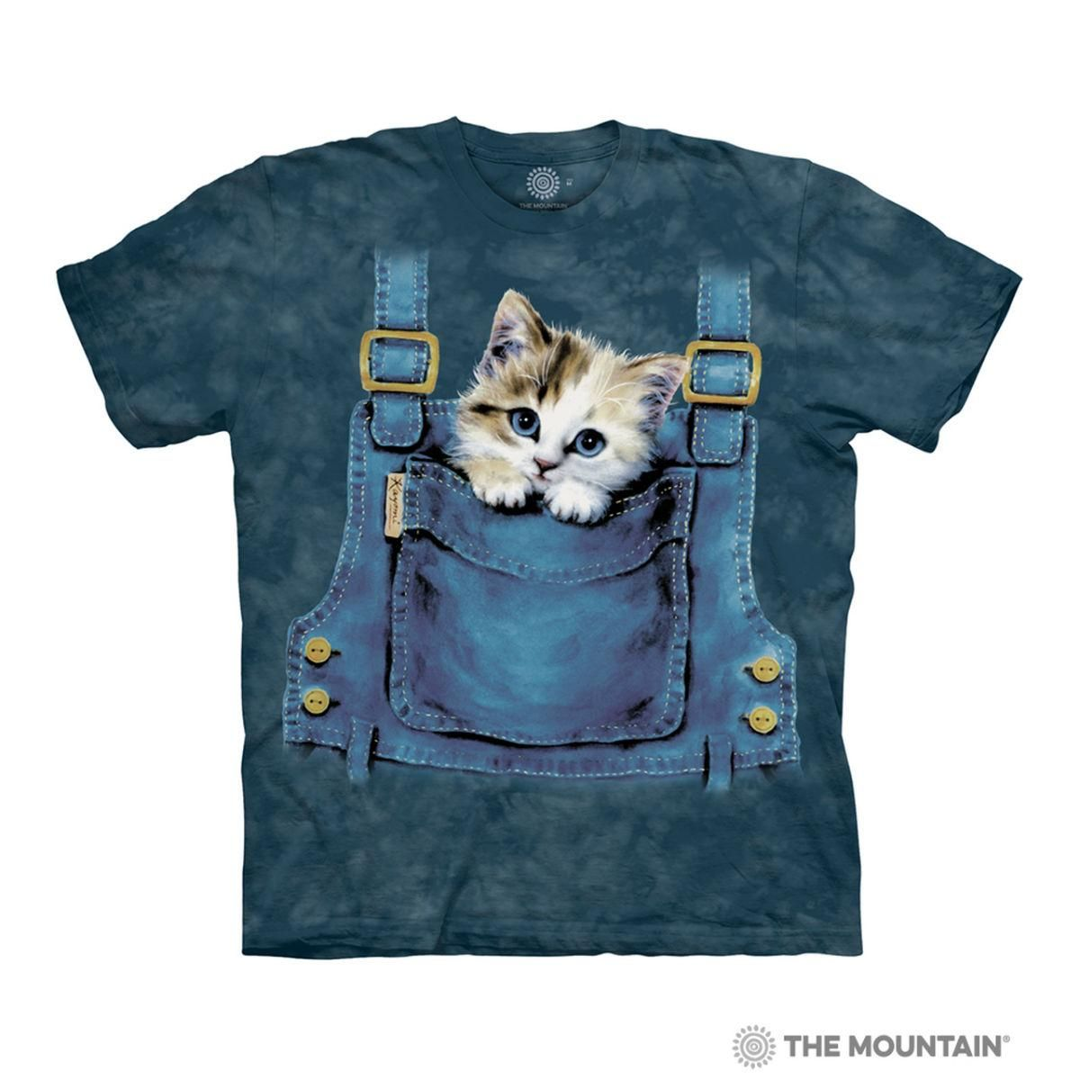 Kitty Overalls Human T Shirt By The Mountain In 2020 Cat Tshirt Cat Lovers Kittens Cutest