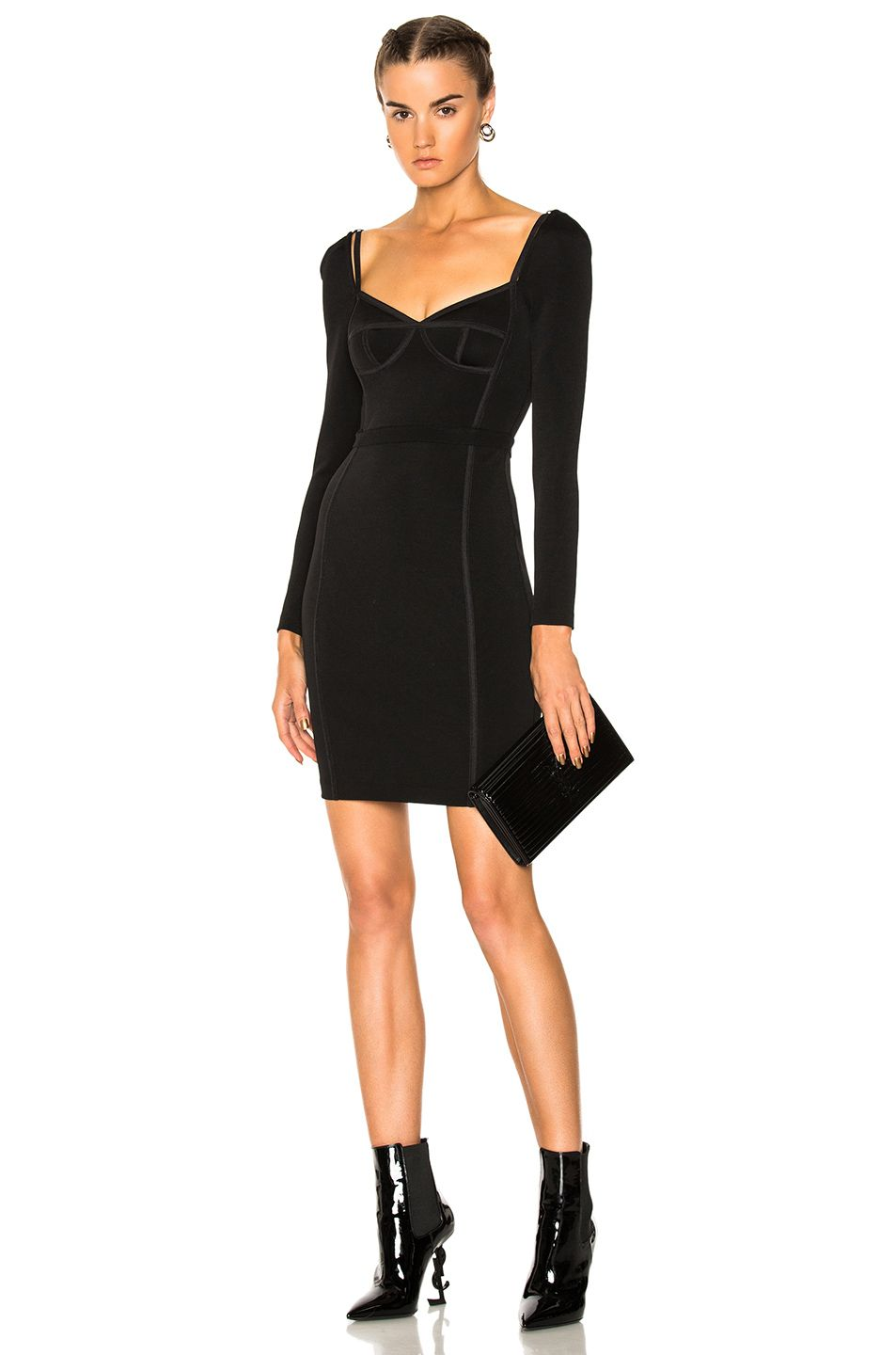 T by alexander wang long sleeve fitted dress tbyalexanderwang