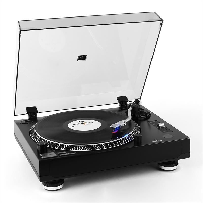 Ordinaire BRAND NEW BLACK STYLISH VINYL RECORD PLAYER MODERN DESIGN TURNTABLE USB LED  HIFI In Record Players