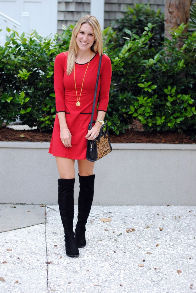 Above the Knee Boots Dress