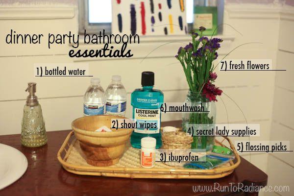 Lovely A Springtime Dinner Party. Bathroom EssentialsDinner ...