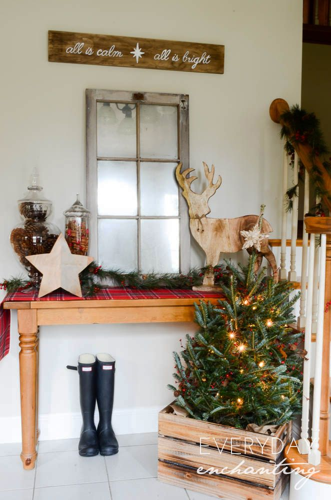 Christmas Home Tour 2014 Rustic Cozy Christmas Decorations Cheap Christmas Decorations Rustic Holiday Decor