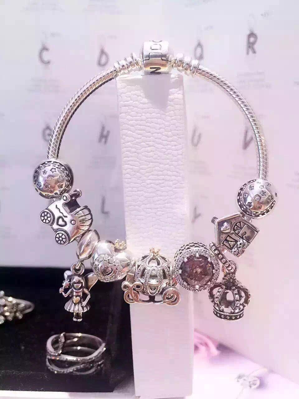 239 pandora charm bracelet pink hot sale
