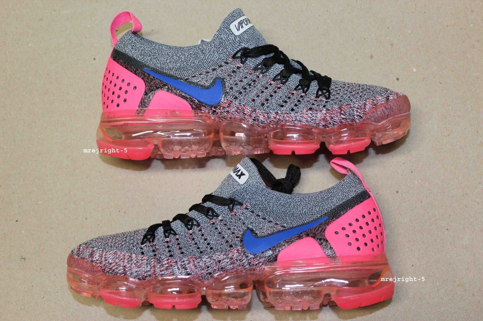 picked up another chance utterly stylish Women's Nike Air VaporMax Flyknit 2 Size 7 Pink Gray Blue ...