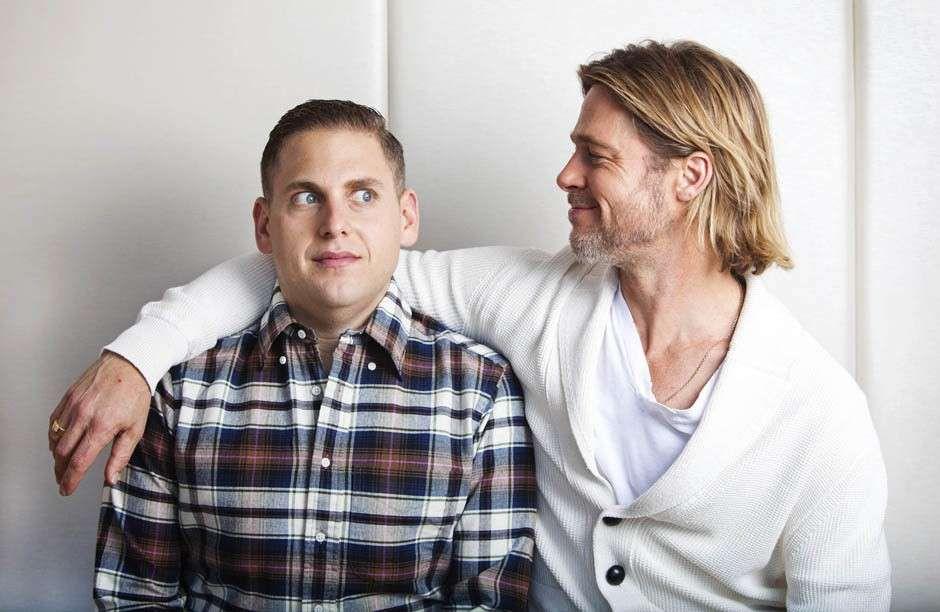 Jonah Hill and Brad Pitt