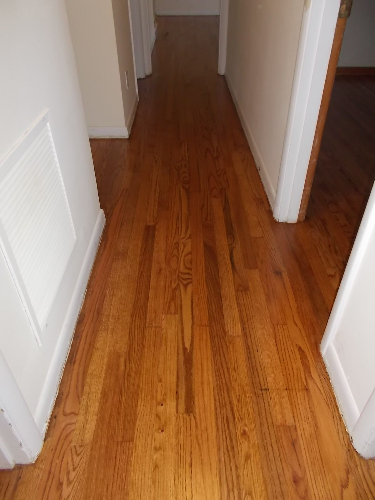 Very Hallway, red oak, Minwax Early American, satin finish | New house  BA62