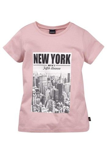 new concept f661a 9a9f1 ARIZONA Arizona T-Shirt bedruckt, für Mädchen pink ...