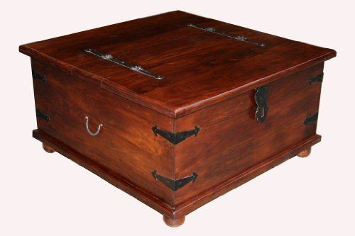Jali Indian Furniture Square Trunk Coffee Table Living Room Co Uk Kitchen Home